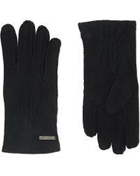 Corneliani | Black Suede Gloves for Men | Lyst