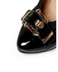 Moda In Pelle Black Ellsa Low Smart Shoes