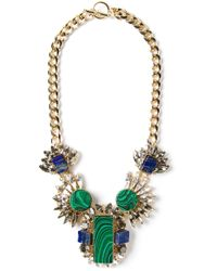 Anton Heunis - Green Embellished Chain Necklace - Lyst