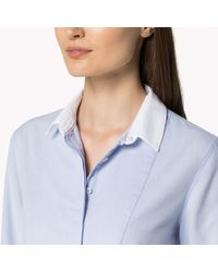 Tommy Hilfiger - Blue Cotton Oxford Shirt - Lyst
