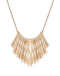 Lucky Brand | Metallic Caseline Paddle Collar Necklace | Lyst