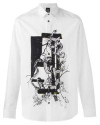 McQ Black Snake Print Shirt for men