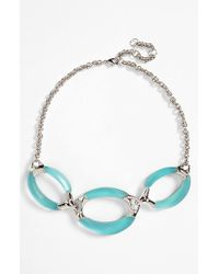Alexis Bittar | Blue 'Lucite' Frontal Link Necklace - Aqua Opalescent | Lyst