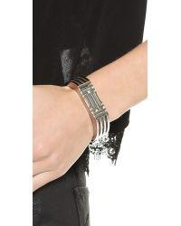 Tory Burch | Metallic For Fitbit Bracelet - Tory Silver | Lyst