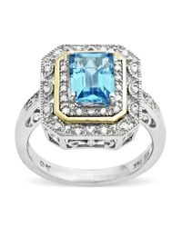Lord & Taylor | Metallic Blue Topaz Ring Set In Sterling Silver And 14 Kt. Yellow Gold | Lyst