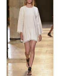 Isabel Marant - White Lin Crayeux Roxana Dress in Ecru - Lyst
