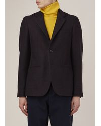 Raf Simons | Blue Dark Navy/brown Classic Constructed Blazer for Men | Lyst