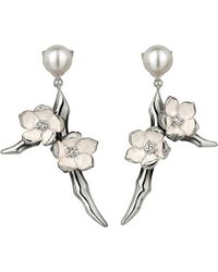 Shaun Leane | Metallic Cherry Blossom Sterling Silver, Diamond And Freshwater Pearl Earrings | Lyst