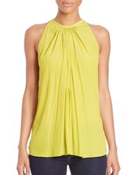 Ramy Brook Yellow Paris Shirred Tank Top