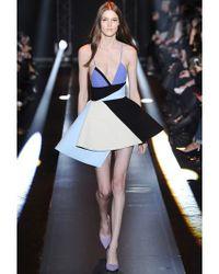 Fausto Puglisi Blue Asymmetrical Wool Crepe Dress Dress