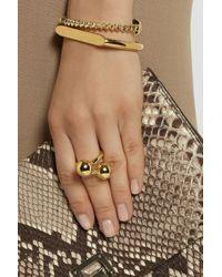 Jennifer Fisher Metallic Double Ball Gold-Plated Ring