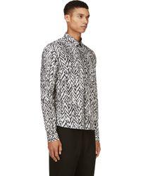 Kris Van Assche - Black and White Chevron Shirt for Men - Lyst