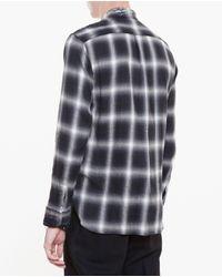 Miharayasuhiro - Black Distressed Tartan Shirt for Men - Lyst
