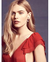 Free People | Metallic Amber Sceats Womens Bar Pearl Earring | Lyst