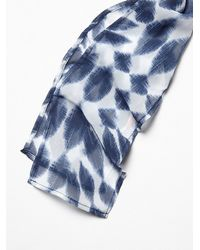 Free People - Blue With Wind Skinny Scarf - Lyst