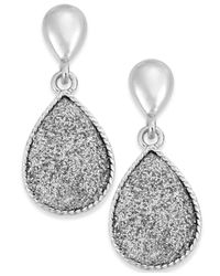 Style & Co. | Metallic Glitter Tiny Teardrop Earrings | Lyst