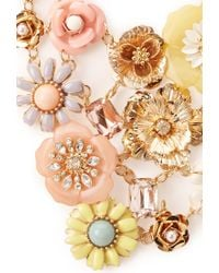Forever 21 | Multicolor Mixed Media Floral Necklace | Lyst
