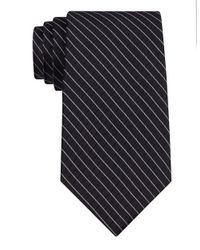Calvin Klein | Black Classic Fit Silk Etched Windowpane Check Tie for Men | Lyst