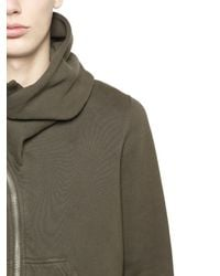 Rick Owens - Brown Drkshdw Hooded Zip-up Cotton Sweatshirt - Lyst