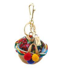 Dolce & Gabbana | Multicolor Raffia Basket Bag Charm | Lyst