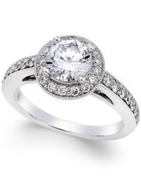 Macy's | Metallic Certified Diamond Engagement Ring (1-5/8 Ct. T.w.) In 18k White Gold | Lyst