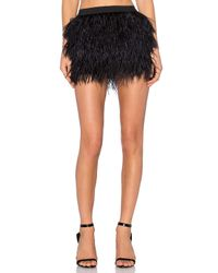 Michelle Mason | Black Feather Mini Skirt | Lyst