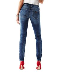 Guess Distressed Skinny Jeans- Blue