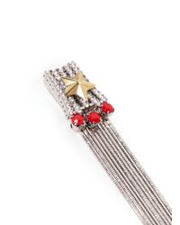 Iosselliani - Metallic Star Stud Metal Fringe Earrings - Lyst