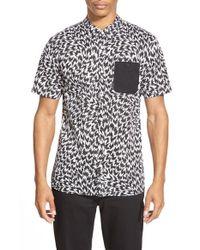 Vans - Black ' X Eley Kishimoto' Short Sleeve Print Woven Shirt for Men - Lyst