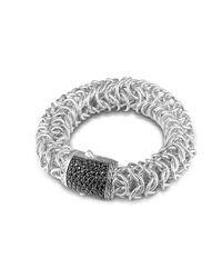 John Hardy - Black Accordion Chain Bracelet - Lyst