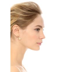 kate spade new york - Metallic Dainty Sparkler Earrings - Gold - Lyst