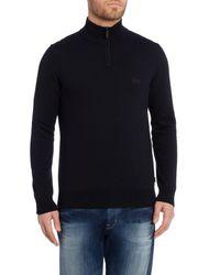 BOSS Black Folson Regular Fit 1/2 Zip Logo Knit for men