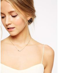 Orelia - Metallic Triple Triangle And Crystal Necklace - Lyst