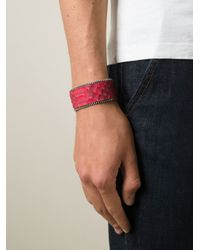 Aech Cheli - Red 'zip' Bracelet for Men - Lyst