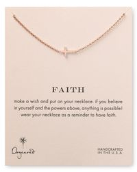 Dogeared - Pink Faith Necklace 18 - Lyst