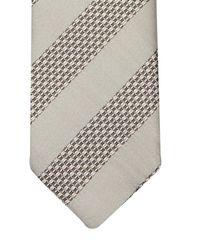 Dolce & Gabbana Gray Diagonal-Weave Martini Silk Tie for men