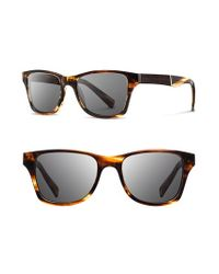 Shwood - Brown 'canby' 53mm Polarized Wood Sunglasses for Men - Lyst