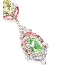 Kenneth Jay Lane - Multicolor Crystal Flower Drop Earrings - Lyst