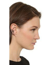 Katie Rowland | Metallic Zelle Dip Dye Ear Cuff - Silver/rose Gold/lavender | Lyst