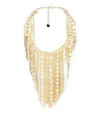 Rosantica By Michela Panero Metallic Petardi Pearl-embellished Fringed-chain Necklace