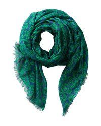 San Diego Hat Company Green Bss1401 Skull Print Fabric Scarf
