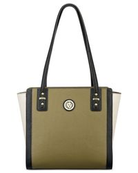 Anne Klein | Green Front Runner Pebble Shopper | Lyst