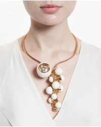 Valentina Brugnatelli   White Resin And Swarovski Necklace   Lyst