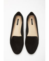 Forever 21 Black Faux Suede Loafers
