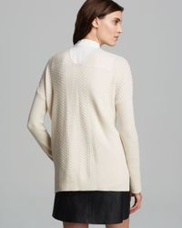 Vince - White Sweater - Chevron Wool Cashmere - Lyst