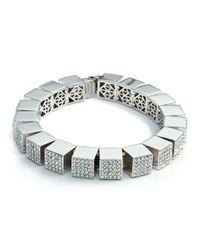 Eddie Borgo | Metallic Pave Cube Bracelet | Lyst