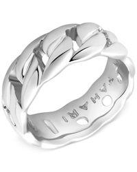 T Tahari | Metallic Flat Link Ring | Lyst
