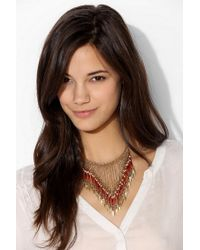 Urban Outfitters Metallic Beaded Points Bib Necklace