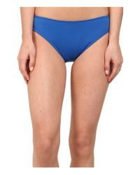 Lauren by Ralph Lauren - Blue Laguna Solids Hipster Bottom W/ Logo Plate - Lyst