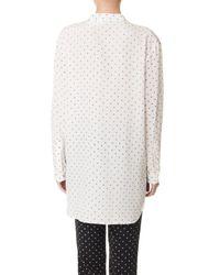 Tibi | White Diffusion Polka Dot Easy Shirt | Lyst